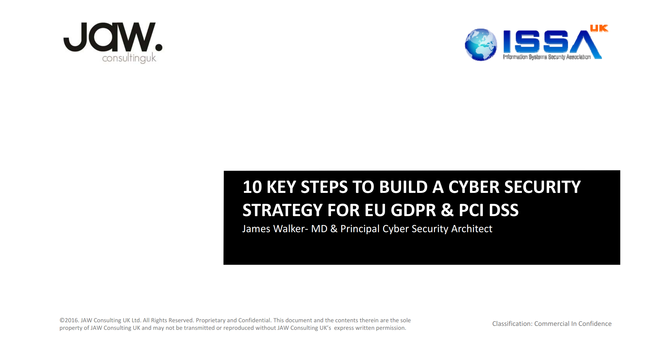 10 Key Steps to Build a Cyber Security Strategy for EU GDPR & PCI DSS